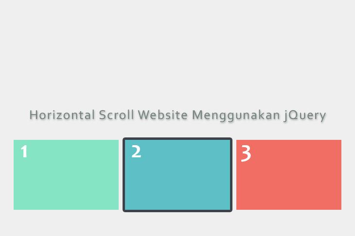 Horizontal Scroll Website Menggunakan jQuery